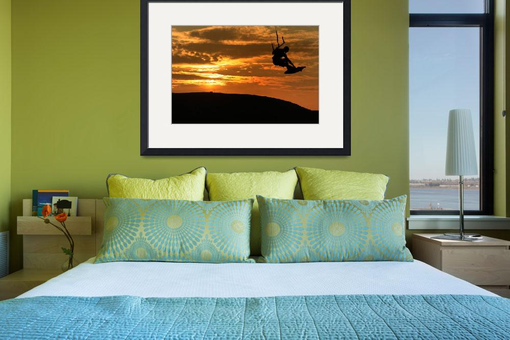 """Kristine Boese - Sunset Kite Surf&quot  (2009) by JessicaShellPhotography"
