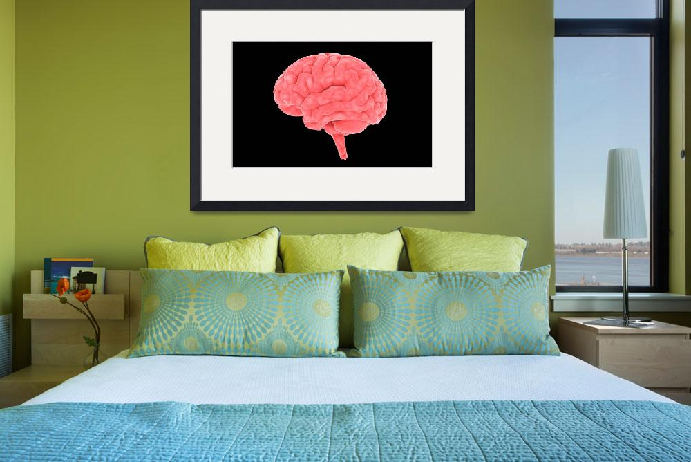 """""""Conceptual image of human brain&quot  by stocktrekimages"""