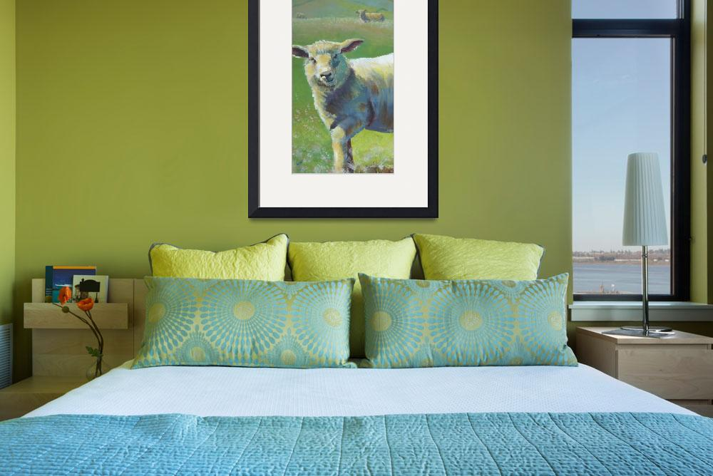 """""""Cheeky Sheep walking across a field&quot  (2012) by MikeJory"""
