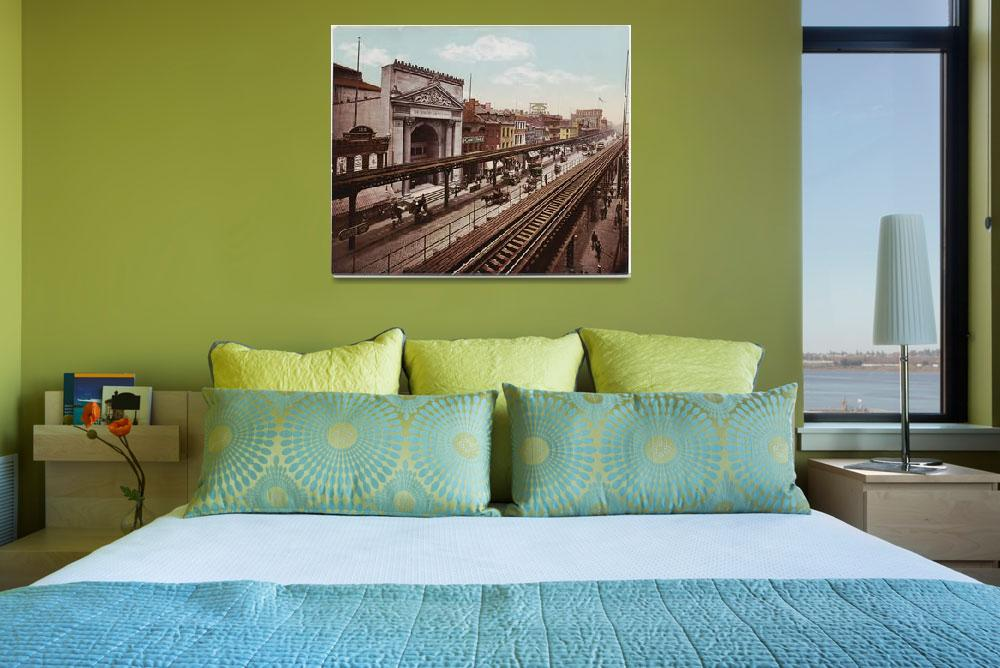"""The Bowery New York City Photo-Print (1898)""  by Alleycatshirts"