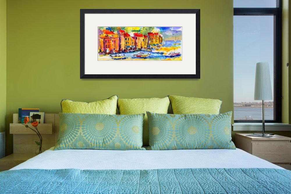 """""""Portofino Italy Original Painting by Ginette&quot  (2006) by GinetteCallaway"""