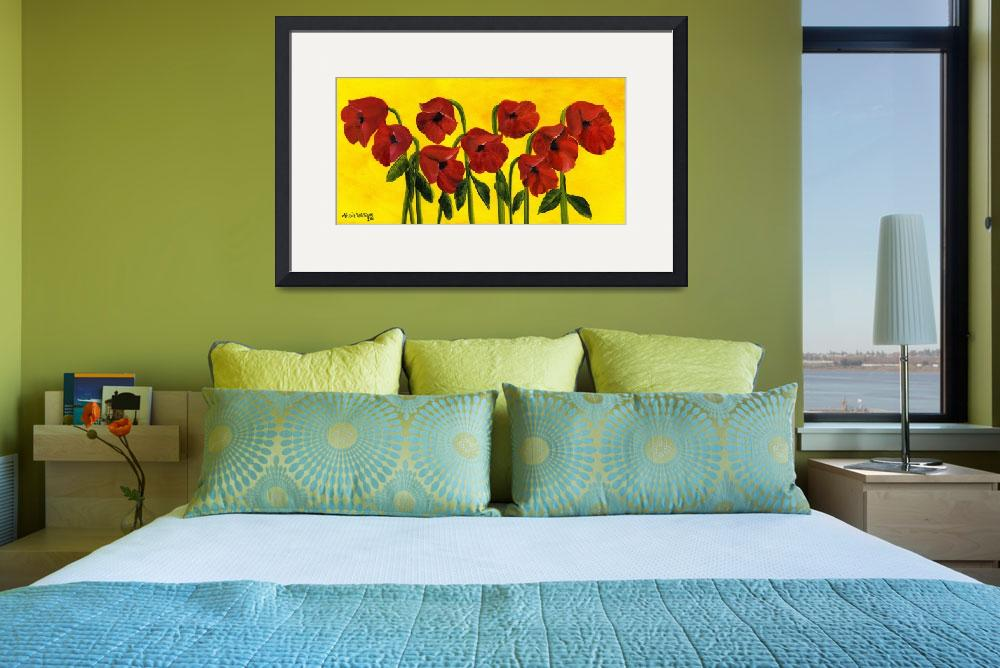 """""""Wistful Poppies&quot  (2011) by mariawilliams"""