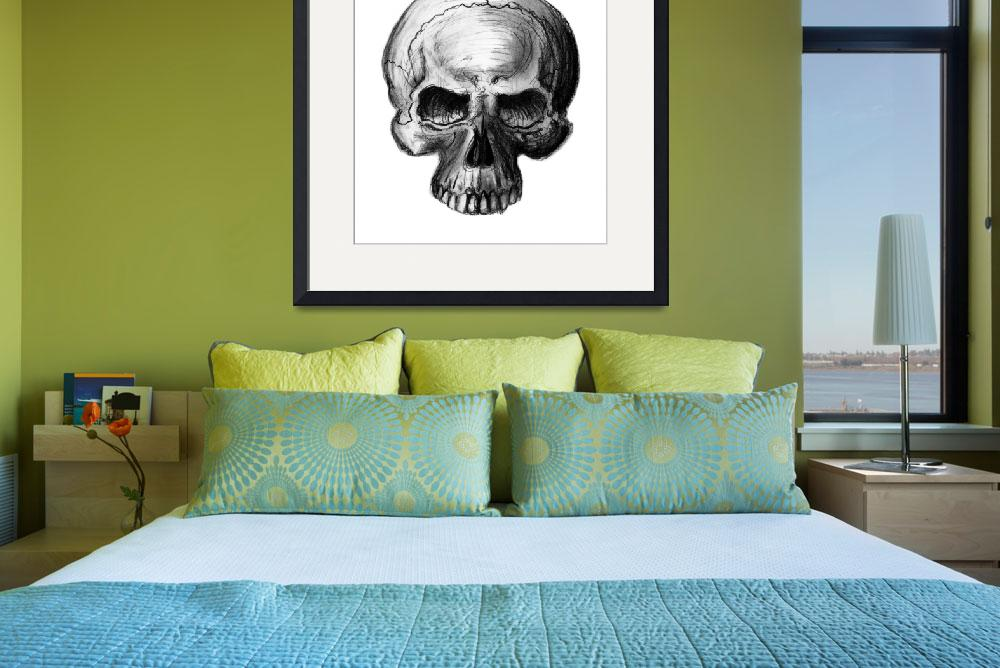 """""""Skull Study&quot  (2012) by ajkartworks"""