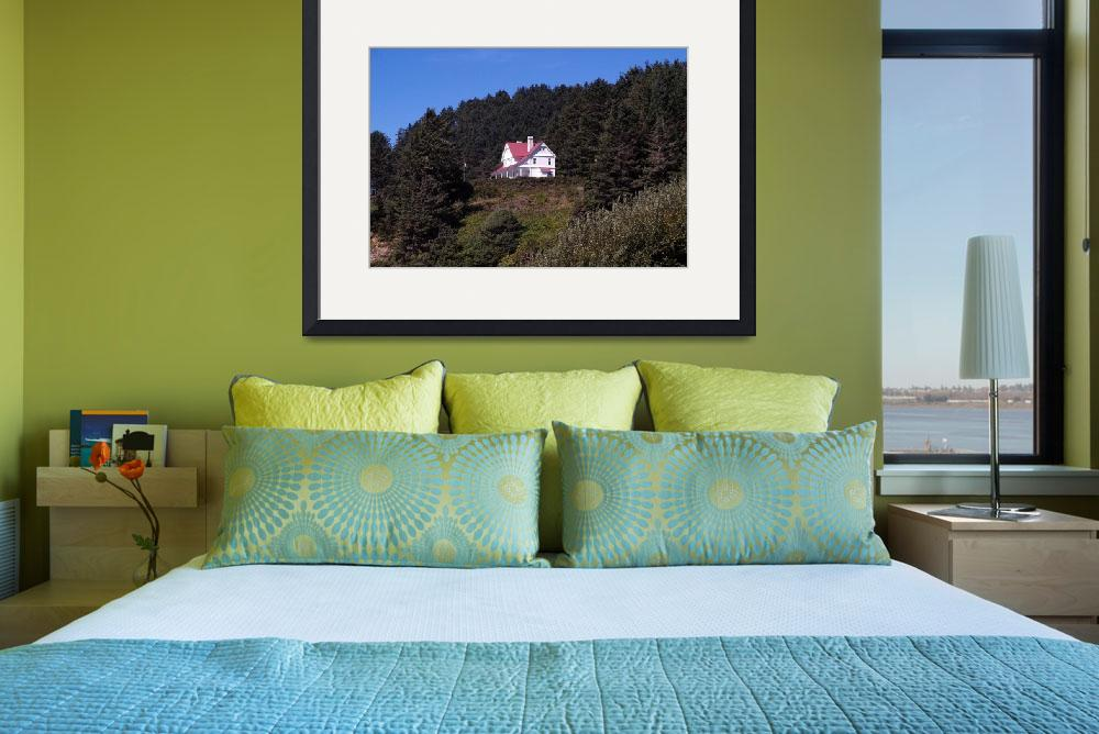 """Heceta Head Lighthouse Keepers House 048""  (2016) by Wintercreeks"