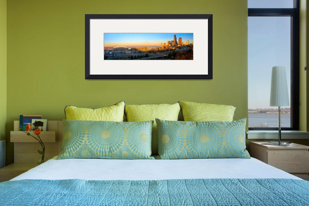 """Seattle Downtown Panorama&quot  (2010) by Inge-Johnsson"