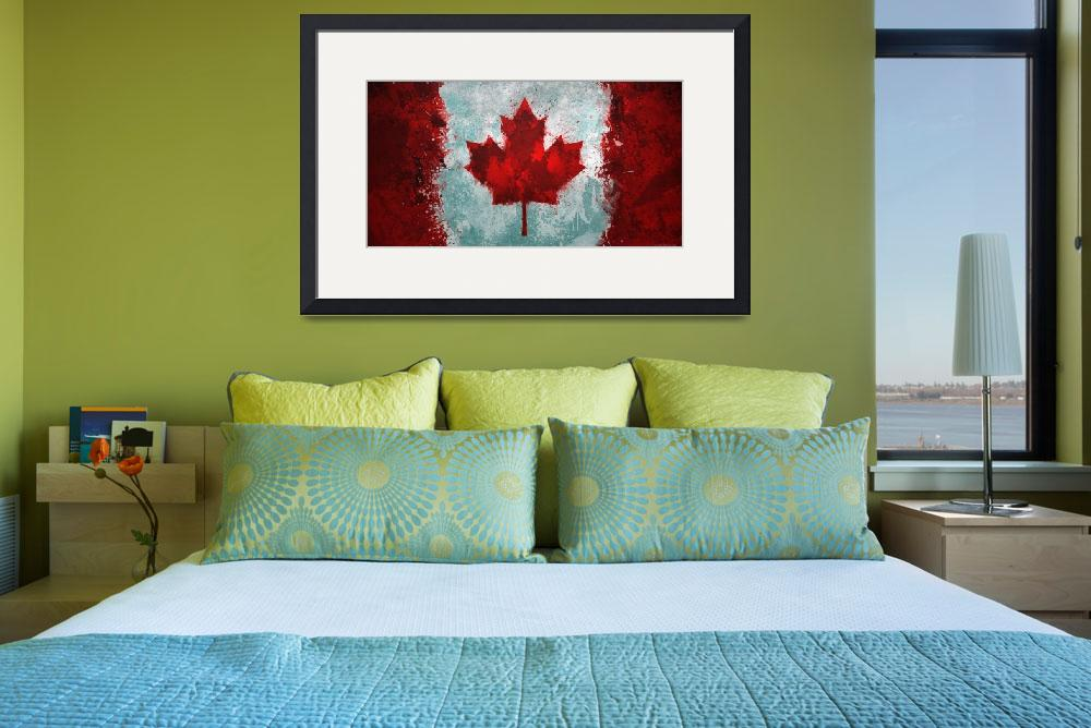 """Canadian Flag Grunge&quot  (2012) by GrizzlyGaz"
