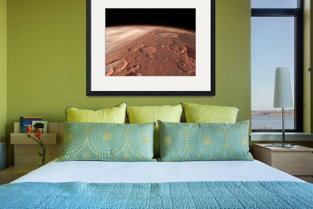 """Heavily cratered highlands on the surface of Mars&quot  by stocktrekimages"