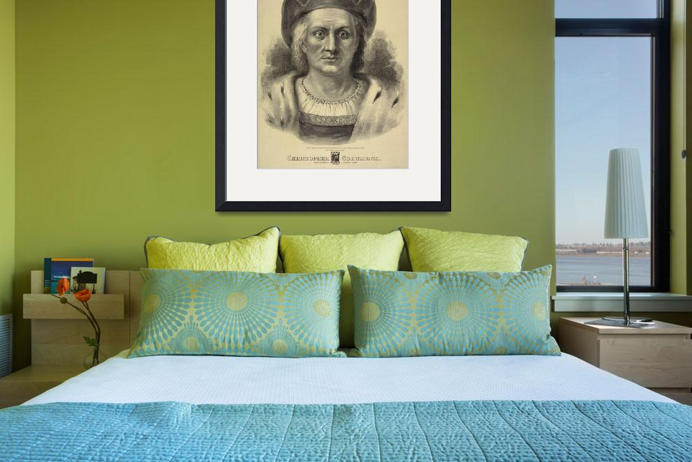 """Vintage Christopher Columbus Portrait (1892)""  by Alleycatshirts"