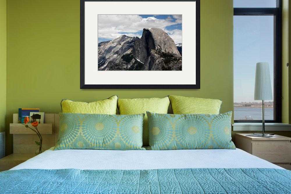 """""""Close Up of Half Dome and Higher Peaks&quot  (2010) by jaredwcarter"""
