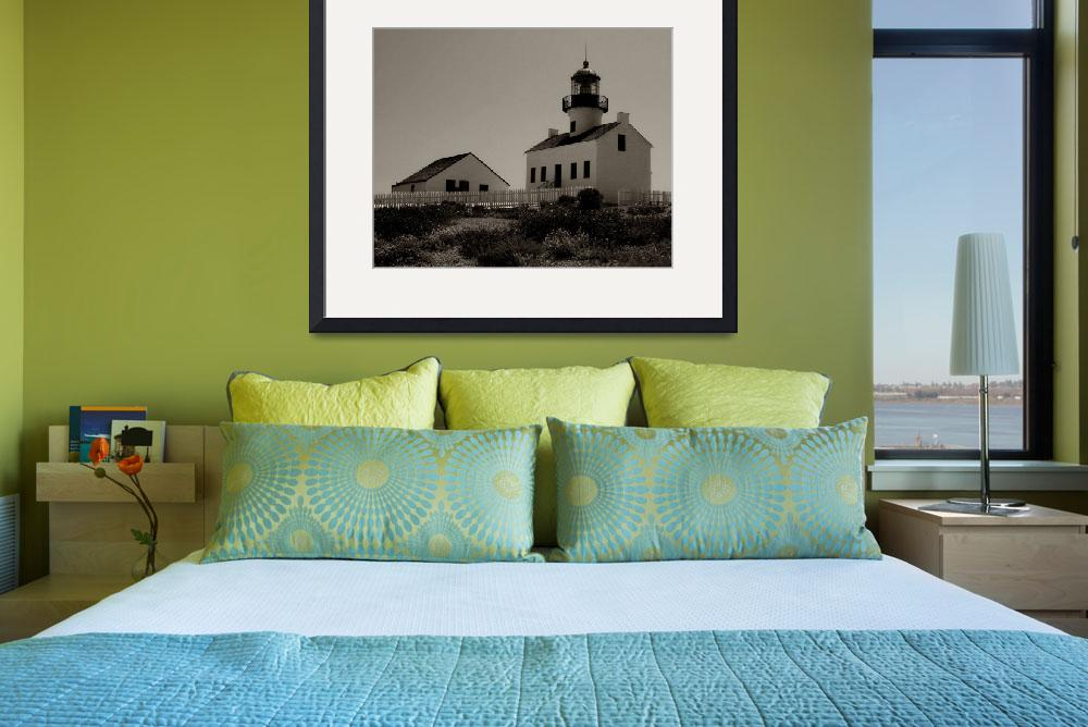 """""""Point Loma Lighthouse in Sepia&quot  (2006) by monicabryantphotography"""
