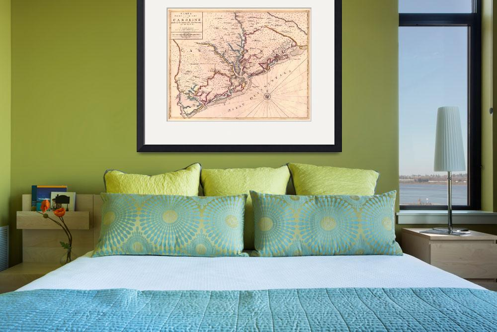 """Vintage Map of South Carolina (1690)""  by Alleycatshirts"