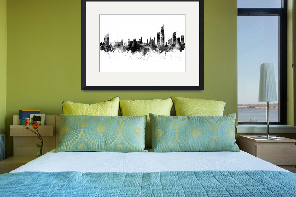 """Karachi Pakistan Skyline""  (2019) by ModernArtPrints"