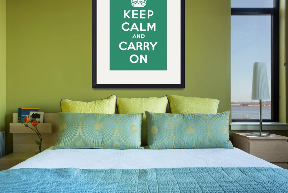 """""""Green Keep Calm And Carry On 10&quot  by oldies"""
