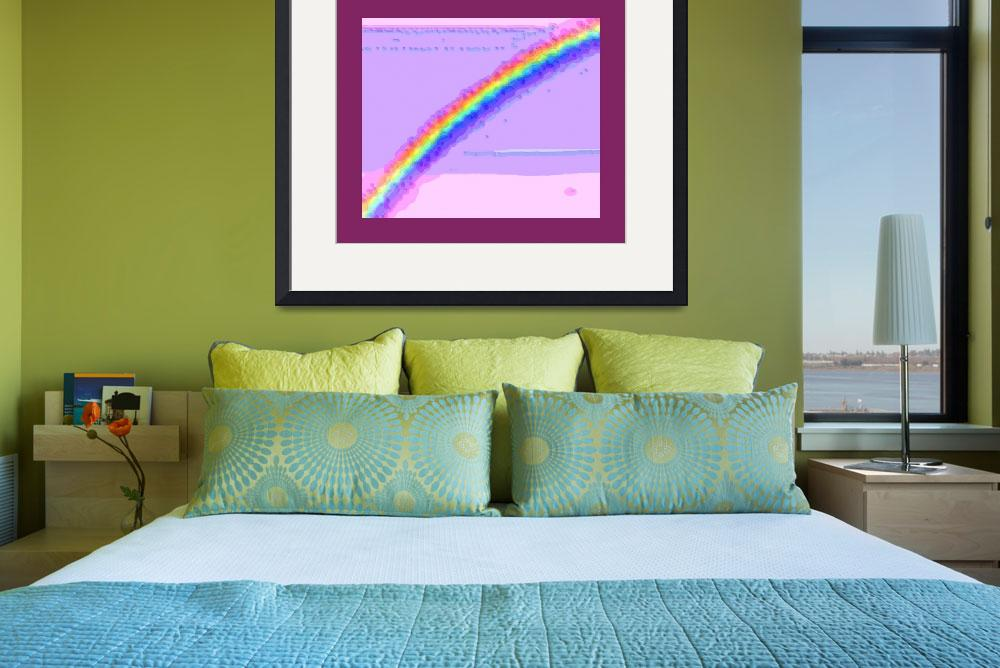"""Rainbow with large border&quot  (2013) by TheNorthernTerritory"