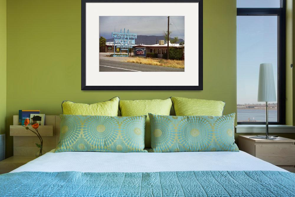 """""""Route 66 - Frontier Motel&quot  (2007) by Ffooter"""