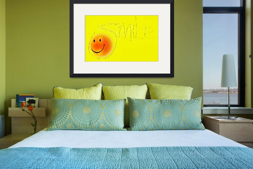 """""""smile outline sunny face""""  by lizmix"""