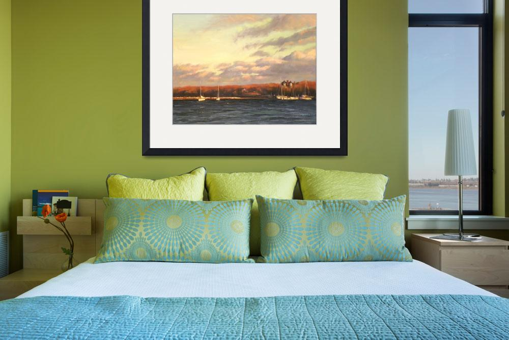 """""""Overlooking Sag Harbor&quot  (2010) by hue57a24"""