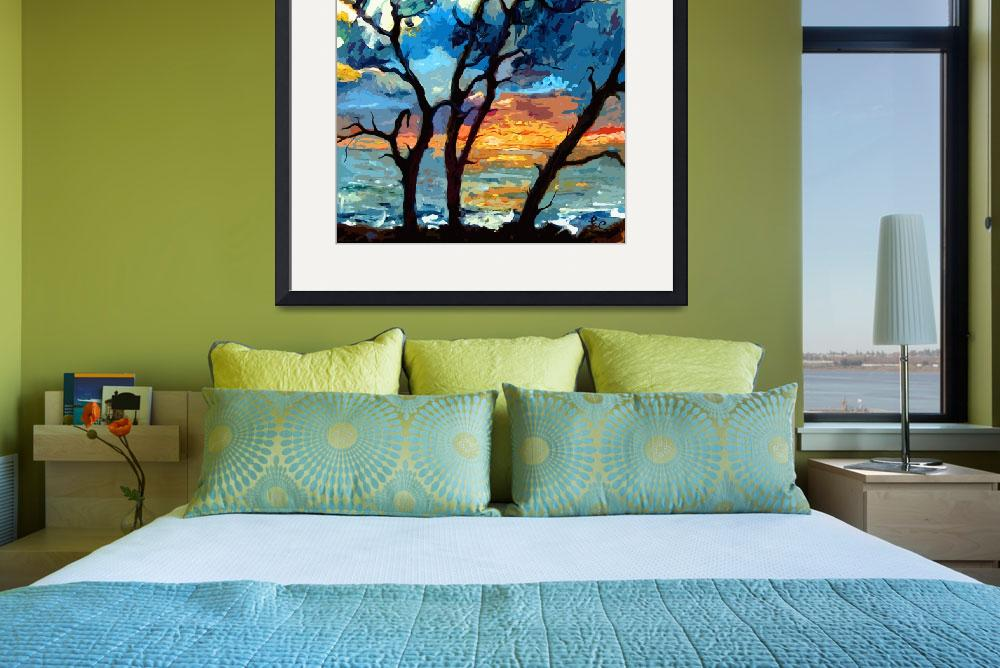 """""""Jekyll island Sunrise Modern Painting by Ginette&quot  (2012) by GinetteCallaway"""
