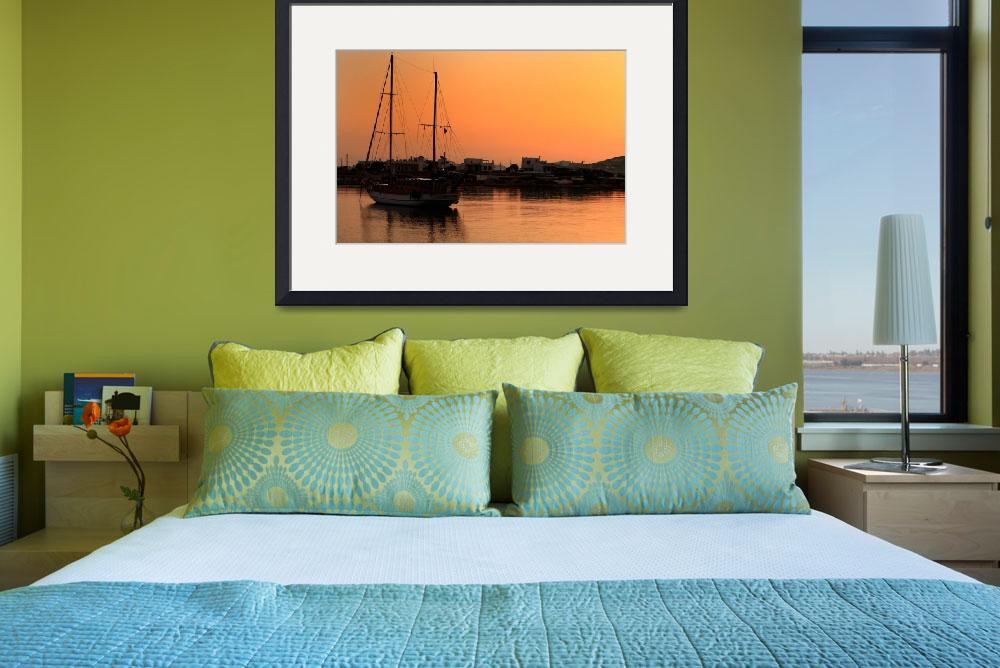 """Boat at Sunrise&quot  (2009) by JessicaShellPhotography"