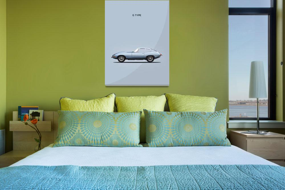 """Jaguar E-Type""  (1961) by mark-rogan"