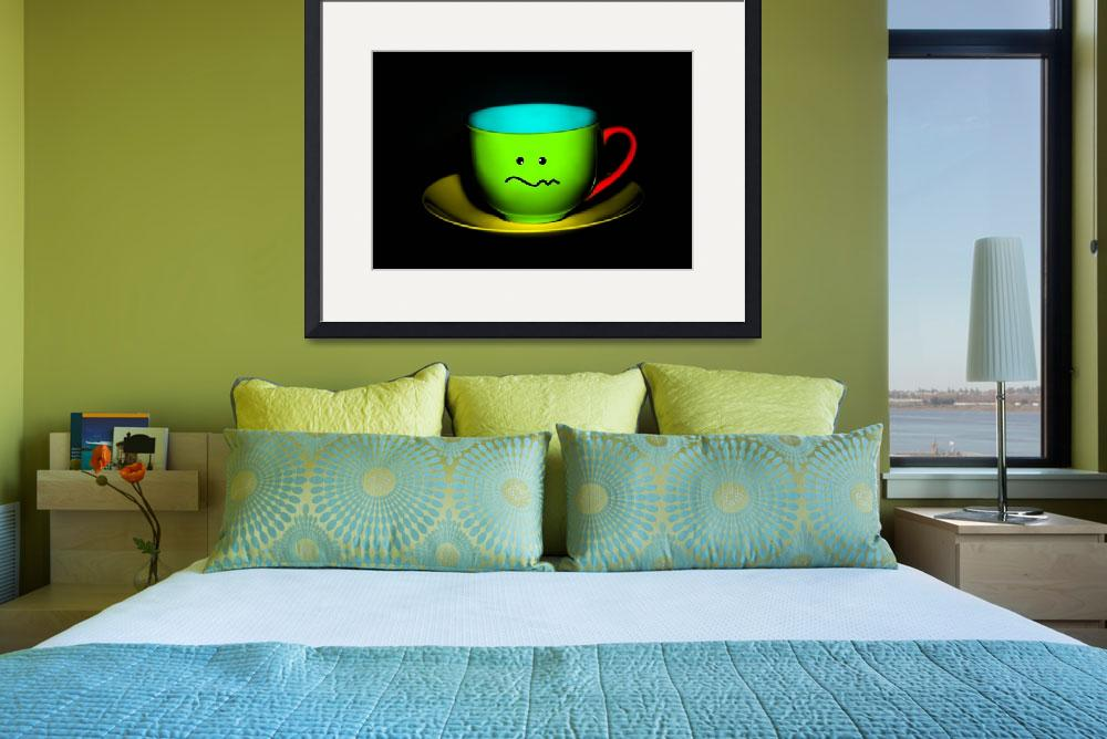 """""""Funny Wall Art - Confused Colourful Teacup&quot  by NatalieKinnear"""