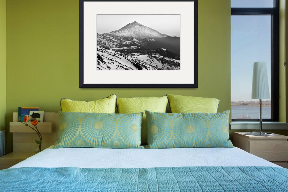 """""""Winter In Teide National Park Monochrome&quot  (2018) by mStepanPhotographer"""