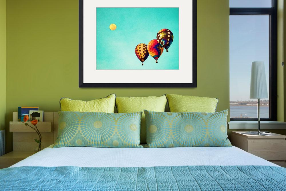 """Air Balloons in watercolor""  by motionage"
