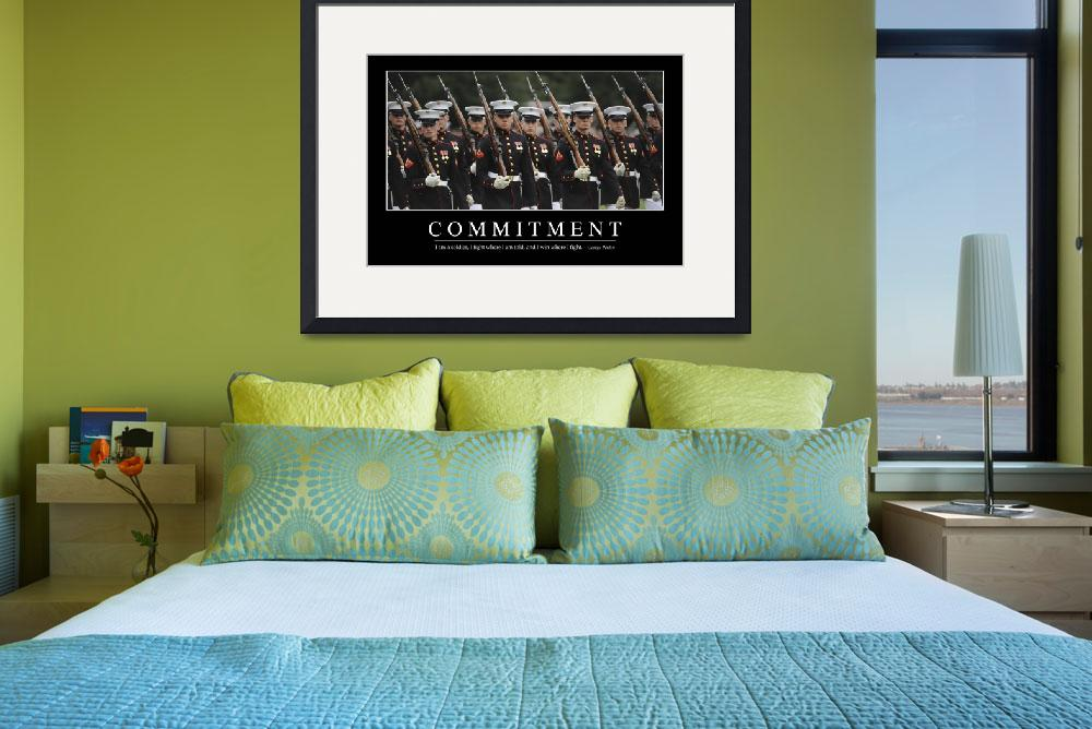 """""""Commitment: Inspirational Quote and Motivational P&quot  by stocktrekimages"""
