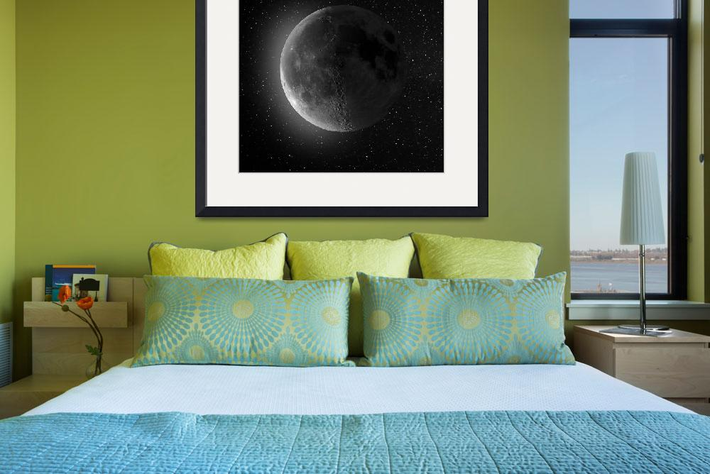 """""""Waning Crescent Moon""""  by cosmic_background"""