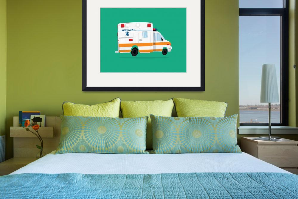 """Cute Ambulance""  (2017) by nathanpoland"