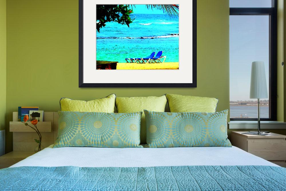 """Caribbean Sea Backyard&quot  (2010) by Caribbean-Digital-Art"