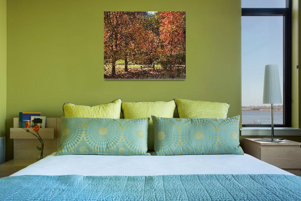 """Fall Trees Seurat&quot  (2009) by digitalmedia"