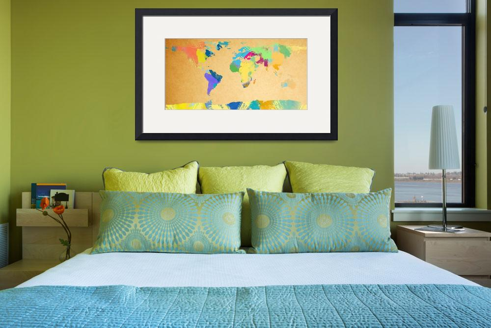"""""""watercolor world map 2&quot  (2012) by gsquared"""