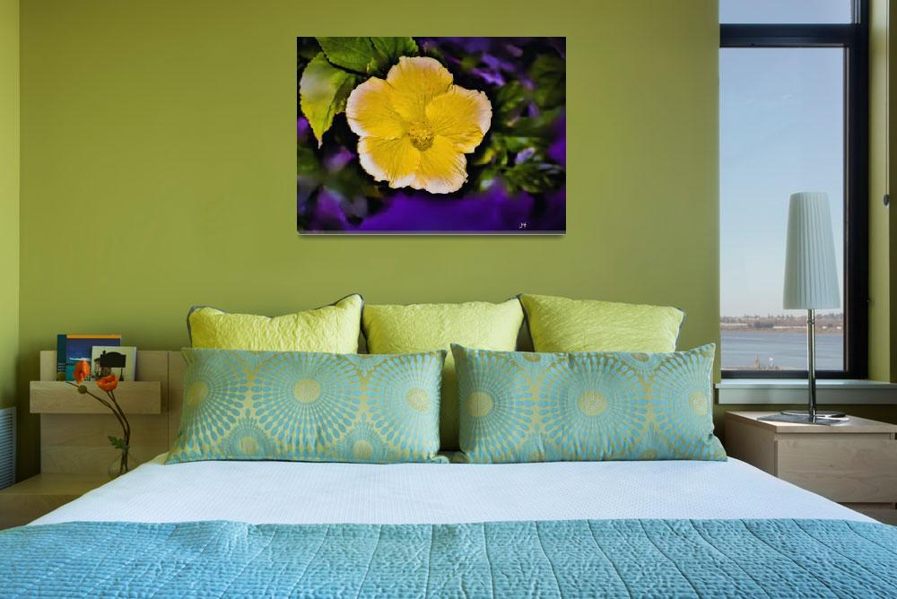 """""""yellow hibiscus&quot  (2018) by mjacedesigns"""