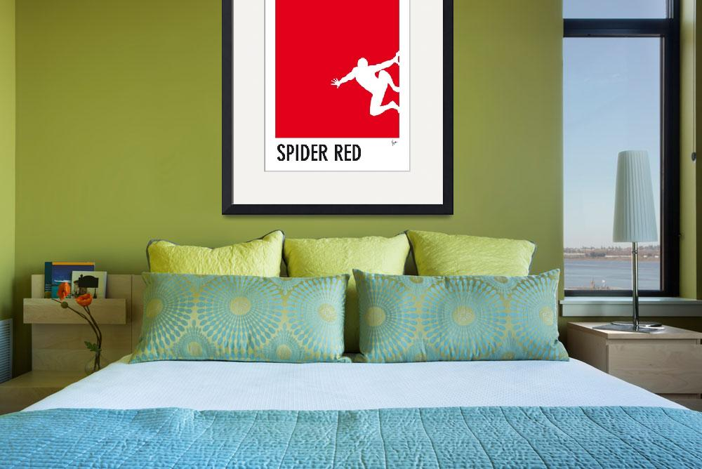 """""""My Superhero 04 Spider Red Minimal poster&quot  by Chungkong"""