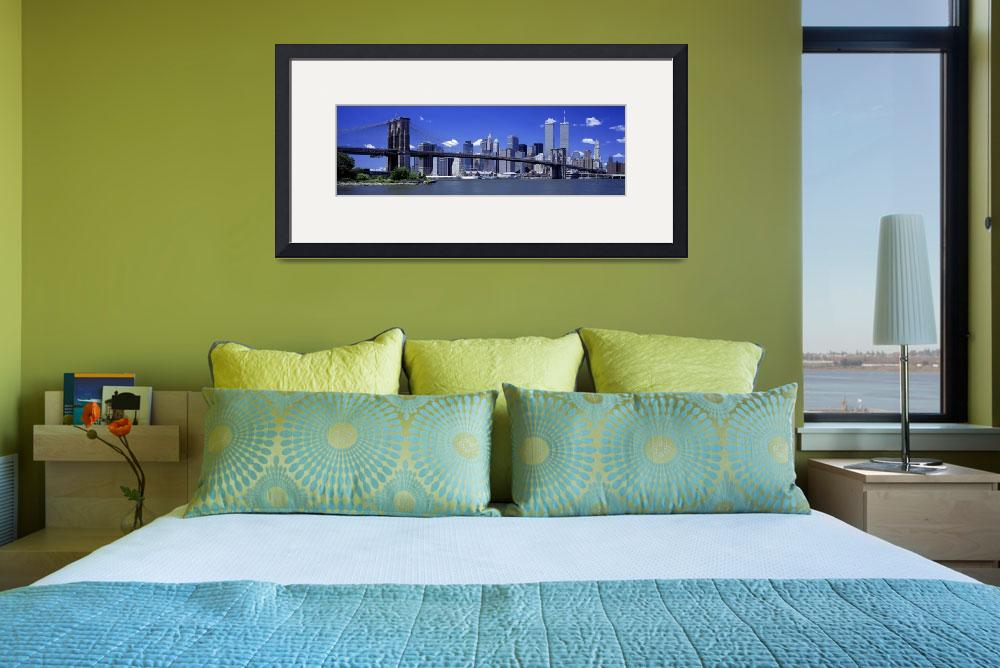"""""""Brooklyn Bridge Skyline New York City NY&quot  by Panoramic_Images"""
