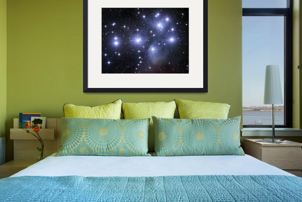 """""""GEN100018S: Open cluster known as The Pleiades.&quot  by stocktrekimages"""