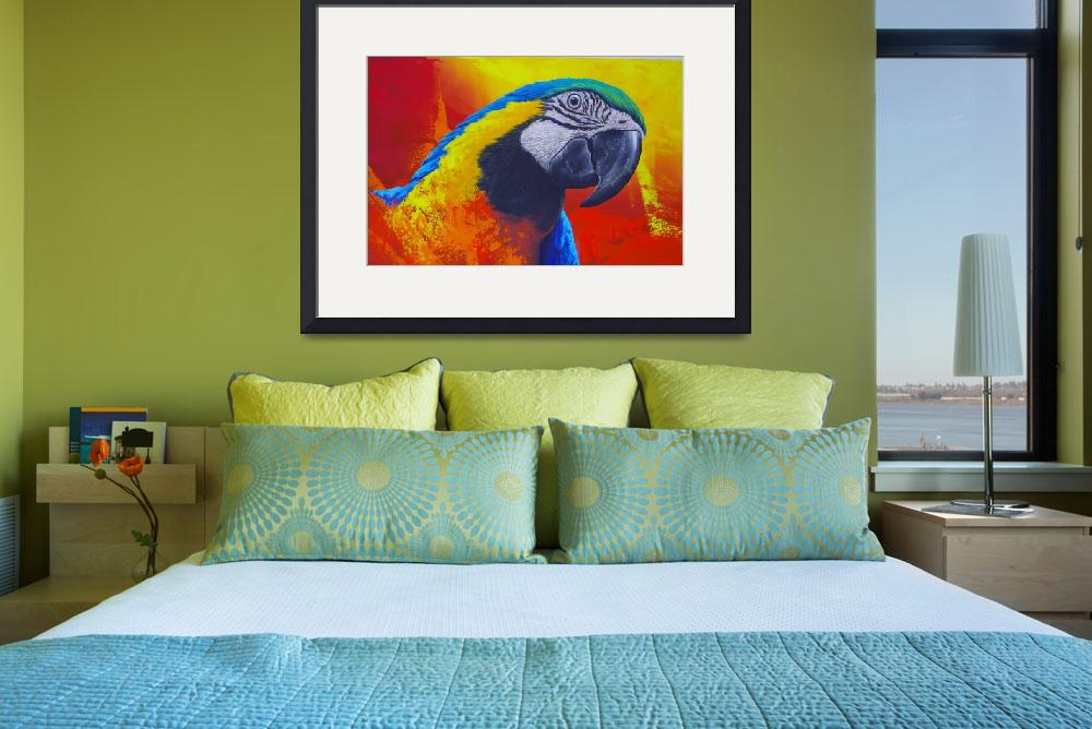 """Colorful parrot of the Amazon&quot  (2016) by DanSteeves"