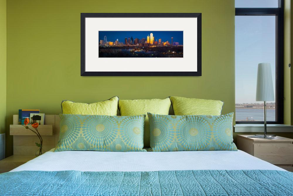 """""""Dallas Downtown Panorama&quot  (2013) by Inge-Johnsson"""