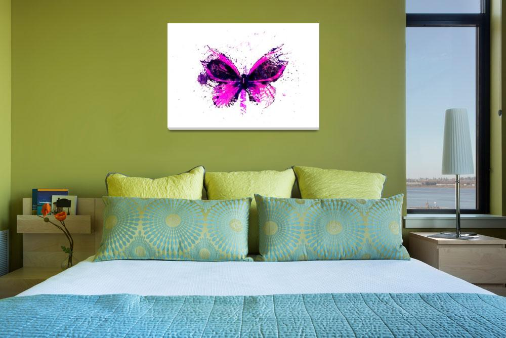 """Forgotten - Pink Butterfly - Art - Digital Print&quot  (2013) by artificialhappiness"