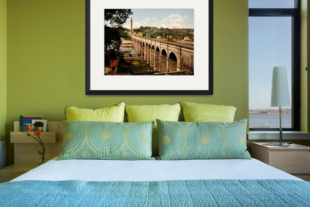 """""""High Bridge in New York City Photo-Print (1900)&quot  by Alleycatshirts"""