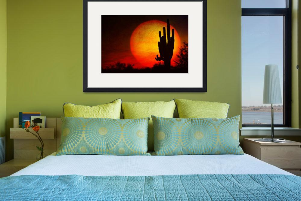 """Big Saguaro Sunset&quot  (2010) by lightningman"