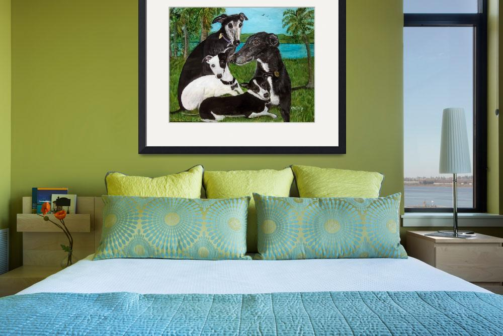 """""""Greyhounds&quot  (2015) by paintingsbygretzky"""