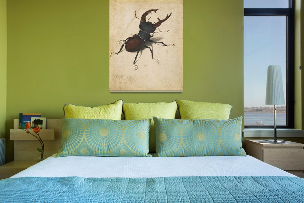 """Albrecht Durer Stag Beetle Renaissance Vintage Art""  by masterpiecesofart"