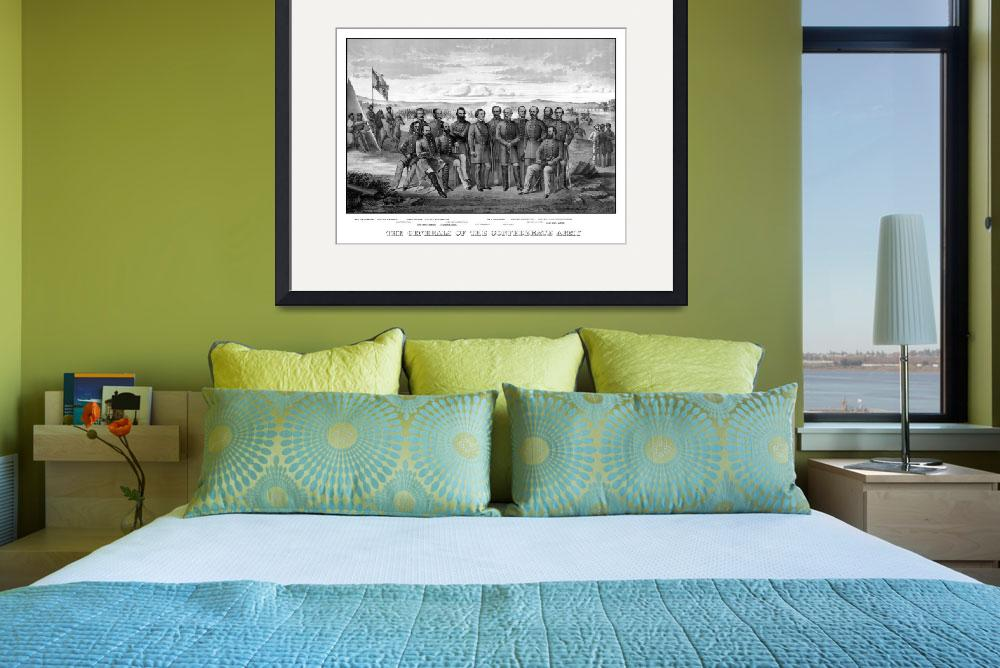 """""""Vintage Civil War print featuring sixteen of The C&quot  by stocktrekimages"""