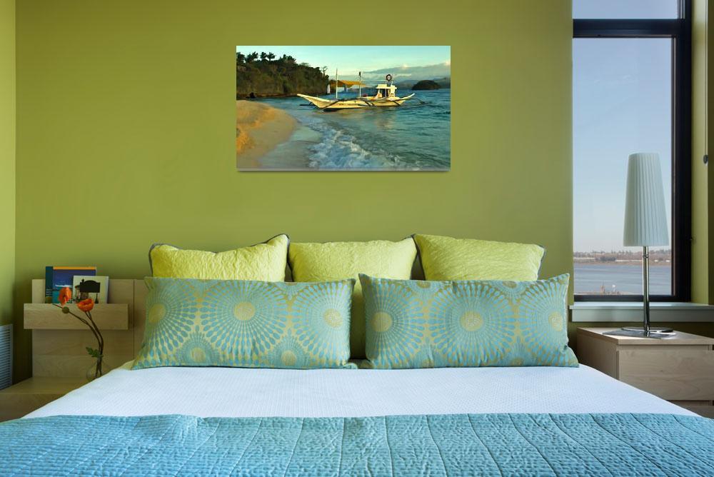 """Beached Outrigger, Boracay Island, Philippines.""  (2005) by haroldbonacquist"