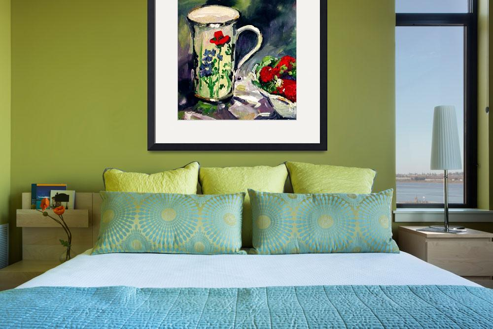 """""""My Favorite Cup - Oil Painting by Ginette&quot  (2003) by GinetteCallaway"""