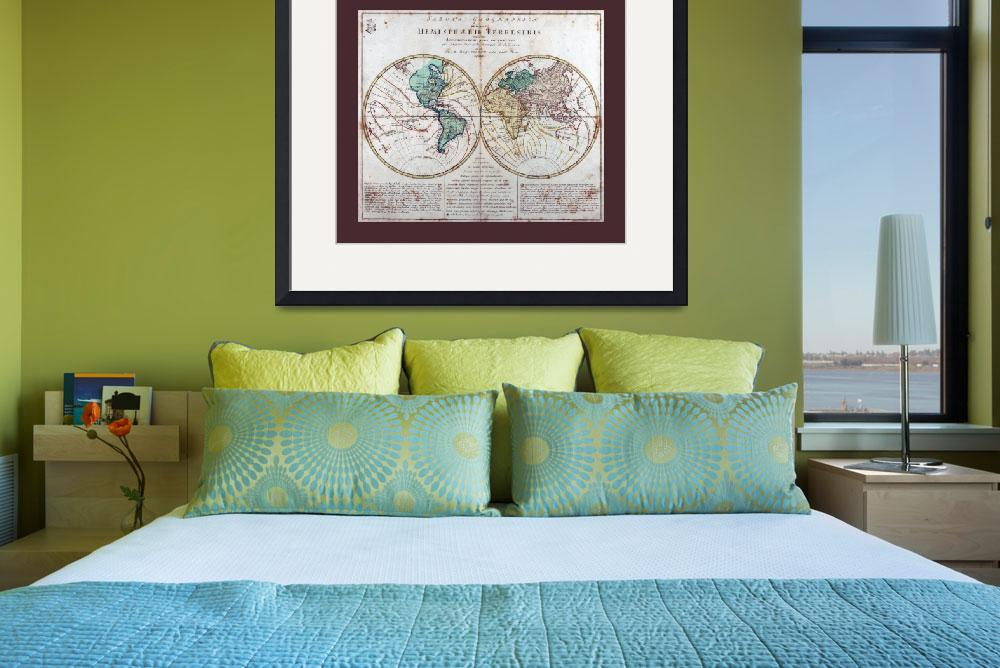 """""""World  Map AD 1760 with Matching Small Border&quot  (2013) by TheNorthernTerritory"""