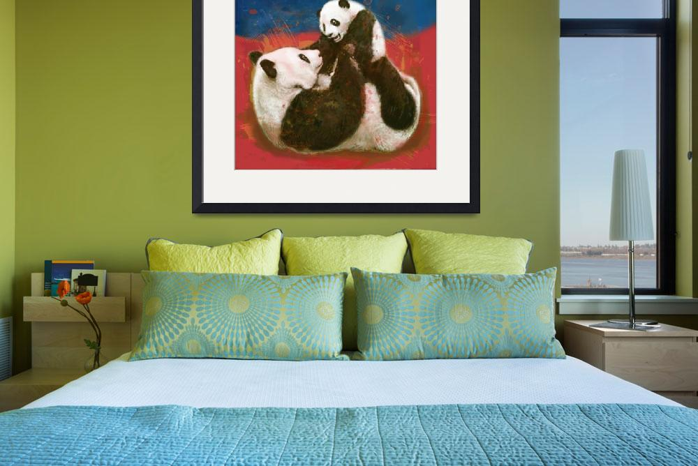 """panda - wild animal stylised drawing art poster""  (2013) by visualharbour"