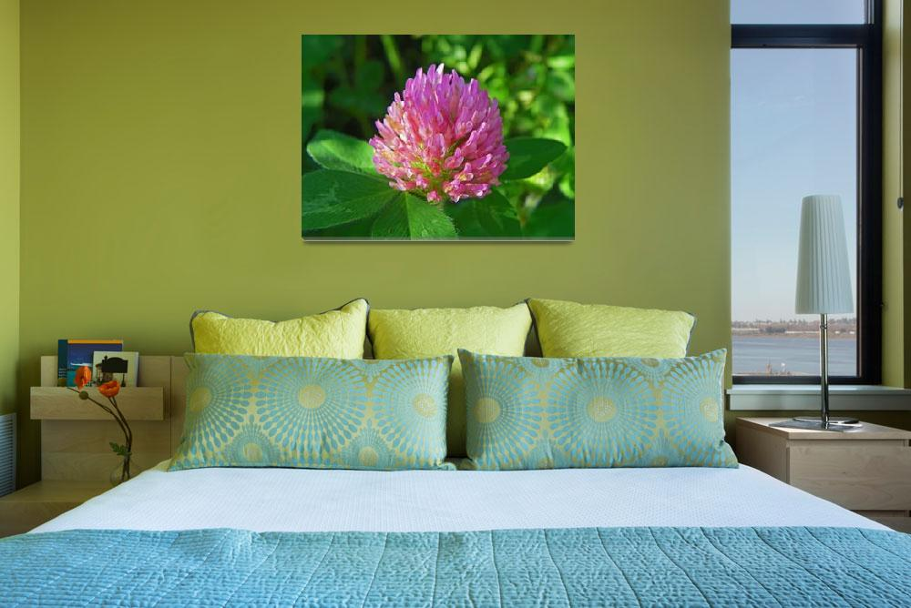 """""""Botanical - Pink Clover - Outdoors Floral&quot  by artsandi"""